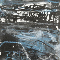 'Night-Shore',-ink,-graphite,-pastel-and-oil-pastel-on-paper,-31-x-19cm
