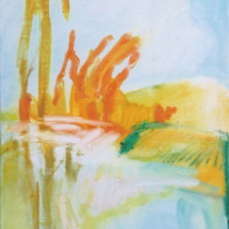 'Hot-Sun',-oil-on-canvas,-34-x-28cm-(Paintings-Landscape)
