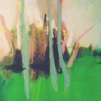 'Pink-and-Grey-Trees',-oil-on-canvas,-30-x-24cm-(Paintings-Landscape)